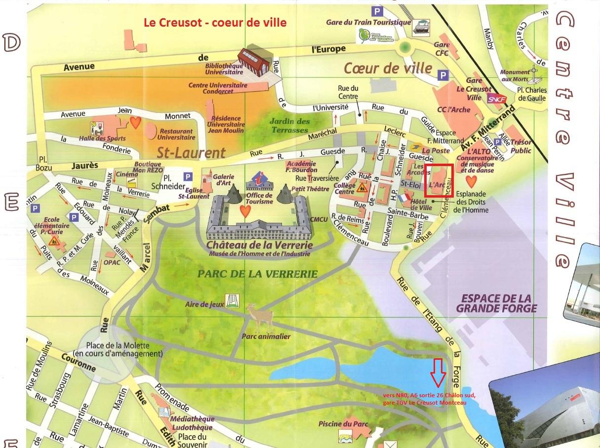 Plan Centre Ville Le Creusot